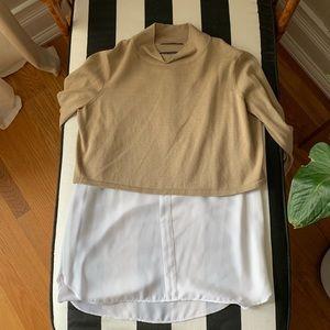Elie Tahari sweater + blouse top